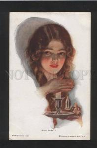 071413 Illuminated Lady Good Night! by Harrison FISHER old#259