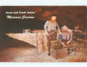 Pre-1980 FRANK AND JESSE JAMES FIGURES IN CAVERNS HIDEOUT Stanton MO E7261