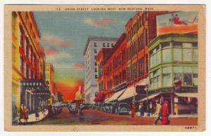 P578 JLs 1948 linen used old cars people union street new bedford mass