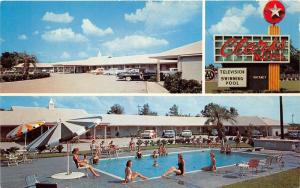 Santee South Carolina~Clarks Motel & Restaurant~Bathing Beauties @ Pool~50s Cars