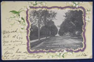 Westchester Avenue Port Chester NY Embossed 1905