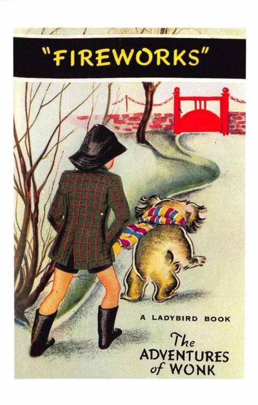 Postcard The Adventures of Wonk Fireworks (1941) Series 417 Ladybird Book Cover