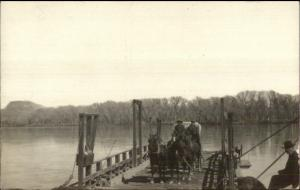 Ferry From Dragon & Vernal UT Green River Ferry c1910 Real Photo Postcard RARE