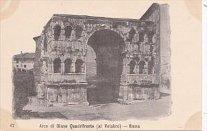 Italy Rome Arco di Giano Quadrifronte