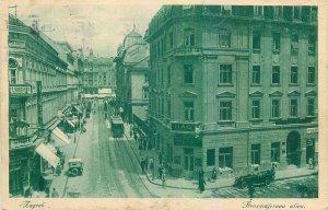 Postcard Croatia Zagreb street view