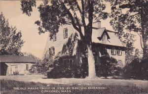 Massachusetts Concord The Old Manse Built in 1769 By Rev William Emerson 1950