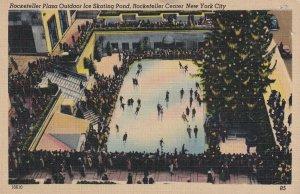 NEW YORK CITY, New York, 30-40s; Rockefeller Plaza Outdoor Ice Skating Pond