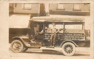 Chicago IL Ben Jesselson Wholesale Fish Truck RPPC Postcard