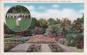 Michigan Jackson Rose Garden and Golf Course In Ella Sharp Park