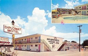 Kissimmee Florida~Diplomat Motel~Palm & Vine Street~Family Rates~1978 Postcard
