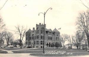 Garner Iowa Court House Real Photo Vintage Postcard JE228397