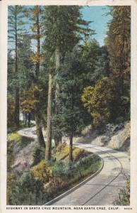 Highway in Santa Cruz Mountain, near Santa Cruz, California, PU-1926