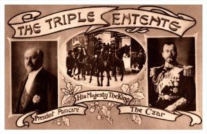 The Triple Entente France President Poincare Russia Czar Nicolas  II