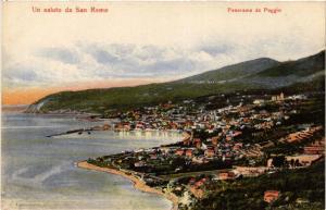 CPA AK Un saluto da SAN REMO Panorama da POggio ITALY (506767)
