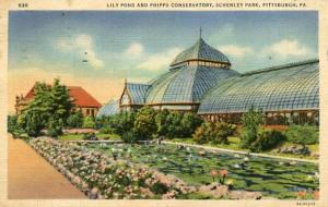 PA - Pittsburgh, Schenley Park, Lily Pond & Phipps Conservatory