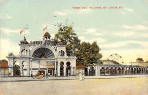 St Louis MO West End Heights Amusement Park~Roller Coaster~Ferris Wheel 1911