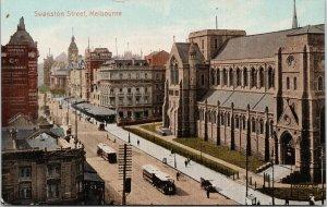 Swanston Street Melbourne Australia Unused Postcard E75