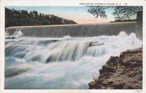 New York New Dam At Ausable Chasm Curteich