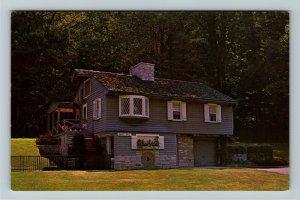 Dayton OH- Ohio, Deeds Park, Grist Mill, Tourist Attraction, Chrome Postcard