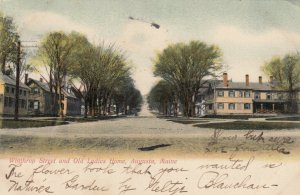 AUGUSTA , Maine , 1901-07 ; Winthrop Street and Old Ladies Home