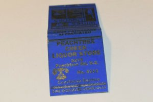 Peachtree Creek Liquor Store Pinup 20 Strike Matchbook Cover