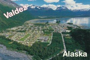 VALDEZ , Alaska , 1990s; Aerial View
