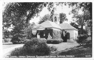 Warm Springs Georgia Foundation Chapel Real Photo Antique Postcard K104517