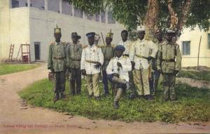 cameroon, D.W.A., DUALA, Bamum King Ibrahim Njoya with Staff (1910s)