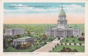 Aerial view showing Superme Court Bldg, Centennial Memorial Bldg.& The State ...