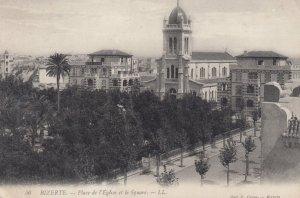 BIZERTE , Tunisia , 1910s ; Place de l'Eglise et le Square