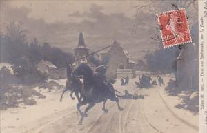Soldiers On Horseback Salon de 1909 Dans une Embuscade 1909
