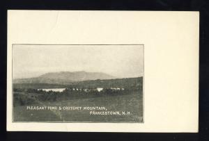 Francestown, New Hampshire/NH Postcard, Pleasant Pond & Crotchet Mountain