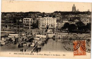 CPA BOULOGNE-sur-MER - Le Point Marguet et les Quais (129385)