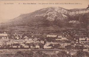 France Aix les Bains Vue generale et le Mont Revard