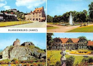 Blankenburg Harz Thiepark Luehnertorplatz Burgruine Regenstein Schloss Statue