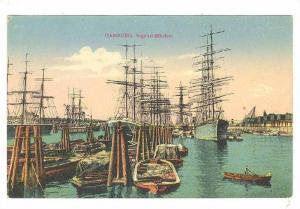 Sailing Vessels (Boats), Segelschiffhafen, Hamburg, Germany, 1900-1910s