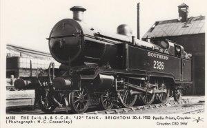 LB&SCR 12 Tank Train 2326 Brighton Railway Station Postcard