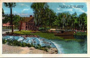 Florida Ponce de Leon Springs The Old Spanish Sugar Mill 1936