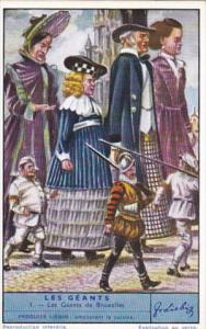 Liebig Trade Card s1416 Legendary Belgian Giants No 1 Les Geants de Bruxelles