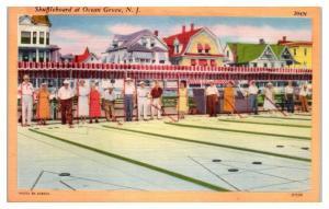 Shuffleboard at Ocean Grove, NJ Postcard