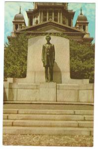 Abraham Lincoln Statue, Springfield Illinois unused Postcard
