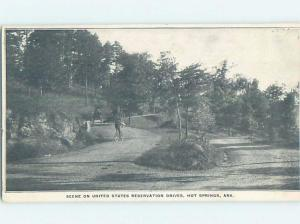 Pre-1907 STREET SCENE Hot Springs Arkansas AR A0166