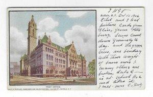 1906 Post Office, Buffalo, New York UDB Postcard