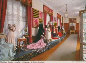 Victorian Dress Corridor Fashion Longleat Wiltshire Warminster Postcard