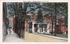Salem College, Winston-Salem, North Carolina, Early Postcard, Unused