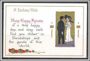 A Birthday Wish - Many Happy Returns - Embossed - [MX-173]