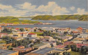 GUAYMAS y la BAHIA SONORA MEXICO~MAGNICIENT VIEW OF THE PORT POSTCARD 1940s