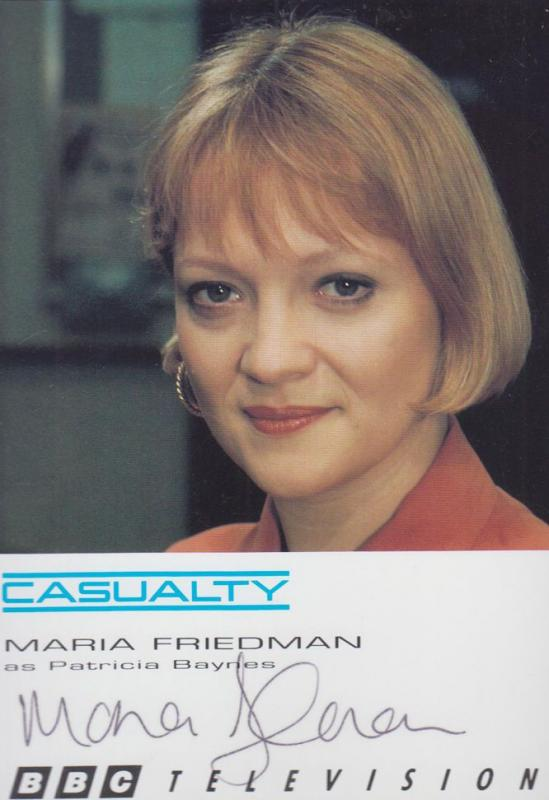 Maria Friedman Patricia Baynes Casualty BBC Vintage Hand Signed Photo Cast Card