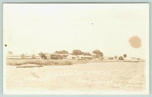Parris Island SC~Marine Corps Quarantine Station~Where I Was Sworn In~c1918 RPPC