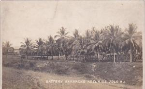 Philippines Battery Barracks Asturias Jolo Real Photo